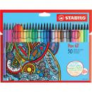 STABILO Premium-Filzstift Pen 68, Kartonetui mit 30 Farben