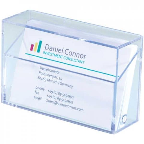 Sigel Visitenkarten Box Glasklar Für Bis Zu 100 Karten Max 86x