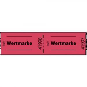 Gutscheinmarken-Rollen >>Wertmarke<< rot fortlaufend nummeriert 60