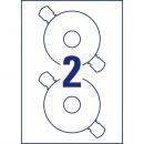 20 AVERY ZWECKFORM L4790-20 Farbige Etiketten  38.1x21.2 mm A4 1.300 Etiketten