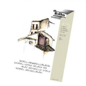 folia Schul-Aquarellblock 150 g qm DIN A3, weiß 10 Blatt