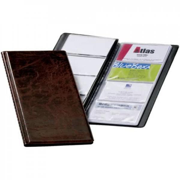 Visitenkartenbuch 25x12cm Braun 2380 11 Hochformat Durable