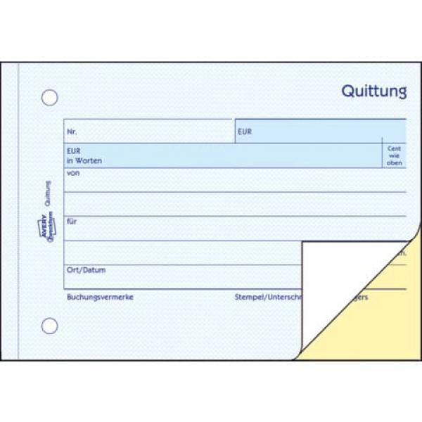 Avery Zweckform 1742 Quittung Kleinunternehmer 1 Und 2 Blatt B