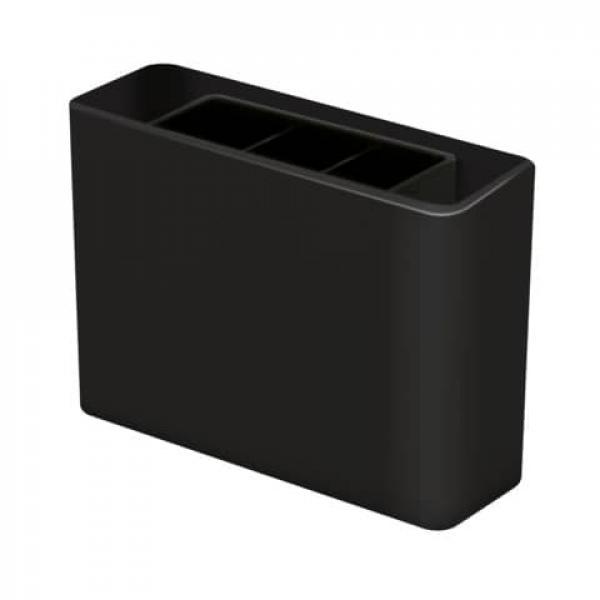 Schreibköcher 3 Fächer schwarz