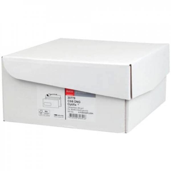 Kuvertierumschlag 229x114mm weiß. m. Fen