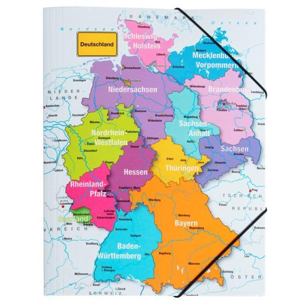 Eckspannermappe Deutschland Din A4 Aus Karton Pagna 21657 15