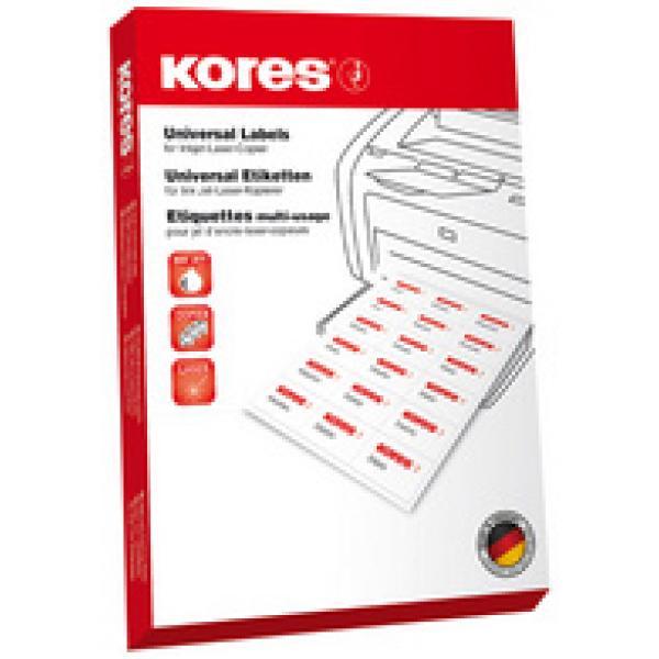 Universal Etiketten 48,5 x 25,4 mm 100 Blatt 4000 Stück Inkjet Laser Kopierer