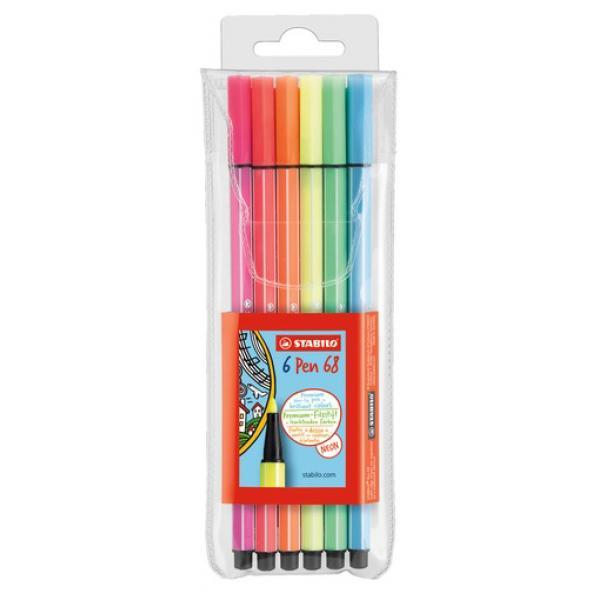 gr/ünerde VE=1 STABILO Fasermaler Pen 68 1,0 mm Strichst/ärke