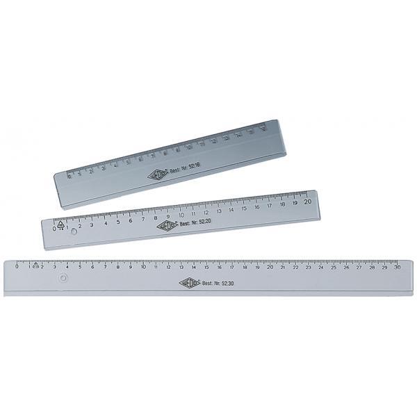 WEDO Lineal 200 mm aus Kunststoff transparent