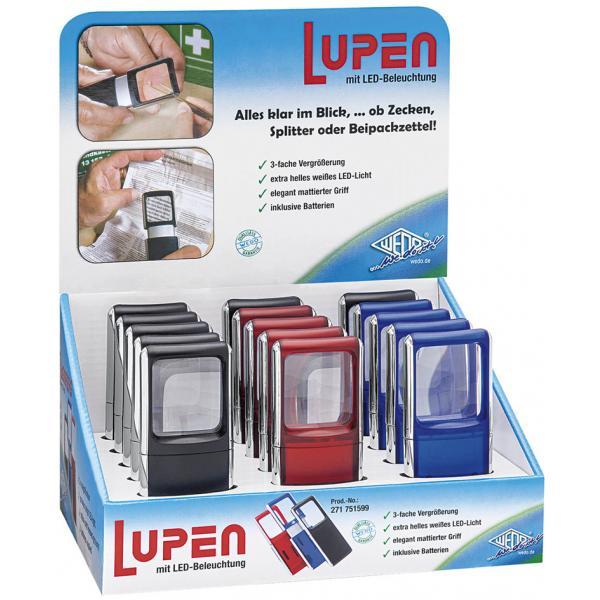 Rechtecklupe Mit Led Beleuchtung 15er Display Wedo 271 751599 4003801799599