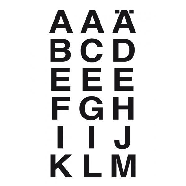 HERMA Buchstaben Sticker A-Z Folie schwarz 5 mm hoch 2 Blatt à 120 Sticker