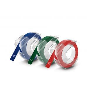 glänzend DYMO Prägeband 3D rot 3 m lang 9 mm breit