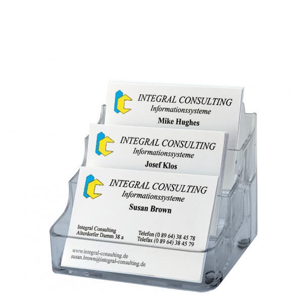 Visitenkarten Aufsteller Hartplastik Mit 1 Fach Sigel Va120 4004360934278