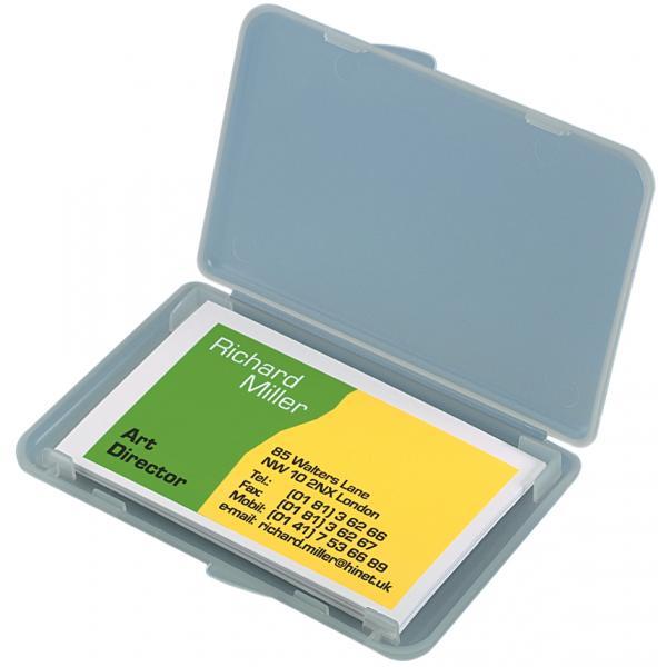 Visitenkarten Etui Kunststoff Transparent Matt Sigel Va140 4004360961472
