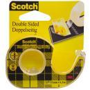 Scotch doppelseitiger Klebefilm 665, 12 mm x 6, 3 m (136D-MD)