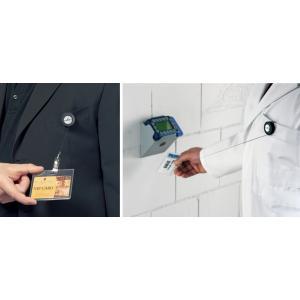 DURABLE Ausweishalter mit Druckknopf, anthrazit (4005546804293)