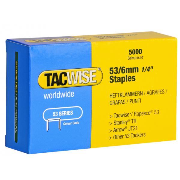 0332 verzinkt 5.000 Stück 5018505555418 TACWISE Heftklammern 53// 8 mm