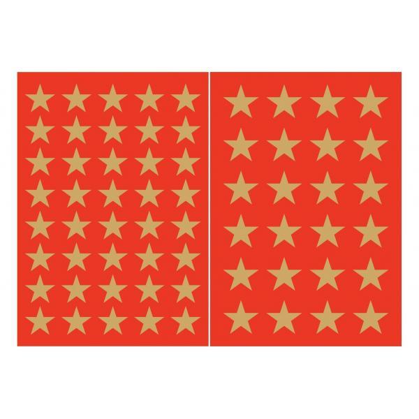 """HERMA Weihnachts-Sticker DECOR /""""Sterne/"""" 6 mm gold 3 Blatt à 105 Sticker"""