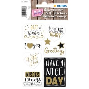 HERMA Geschenkesticker HOME ´Good Luck´ (4008705154734)