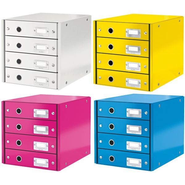 3 Schübe LEITZ Schubladenbox Click /& Store WOW weiß