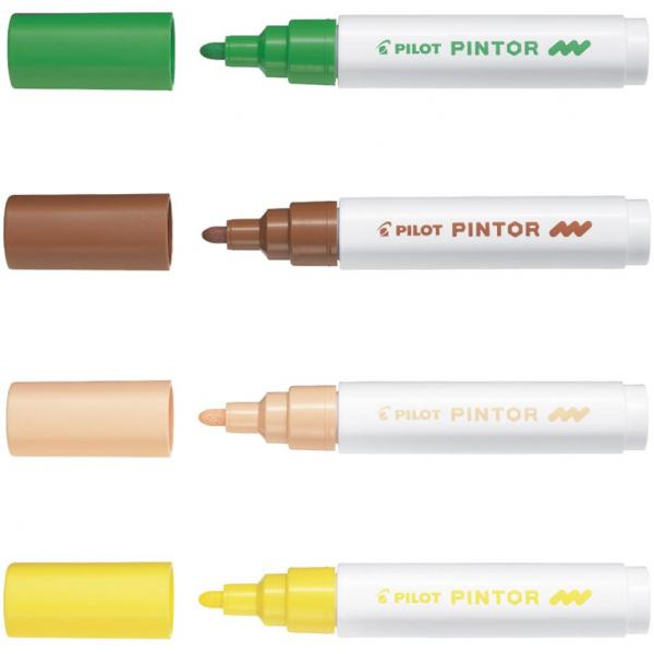 PILOT Pigmentmarker PINTOR medium metallic-blau