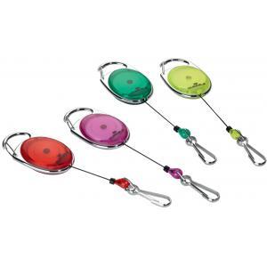 DURABLE Ausweishalter mit Jojo, oval, gelb/ transparent