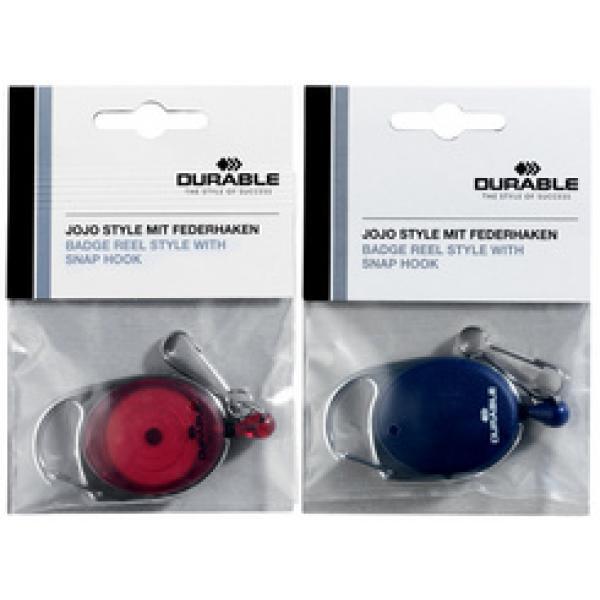 Symbolbild: Ausweishalter mit Jojo oval mit Druckknopf-Schlaufe