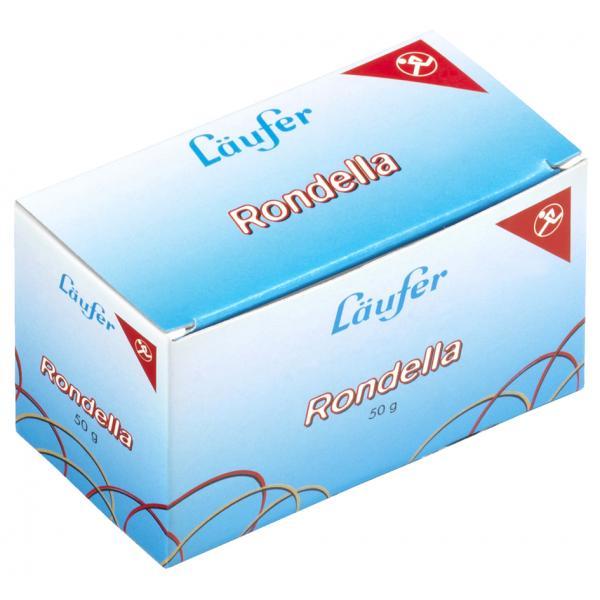 50 g 4006677505455 50545 65 mm Läufer RONDELLA Gummiringe im Karton rot