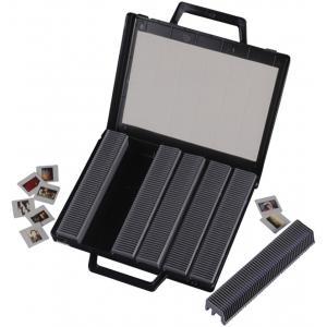 hama Dia-Magazine Koffer, flach, aufklappbar, schwarz (01090)