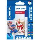 PILOT Pigmentmarker PINTOR, medium, 6er Set ´METAL MIX´