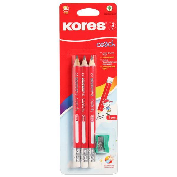 Bleistift COACH dreieckig Härtegrad: 2 HB Kores BB92530 9023800925312