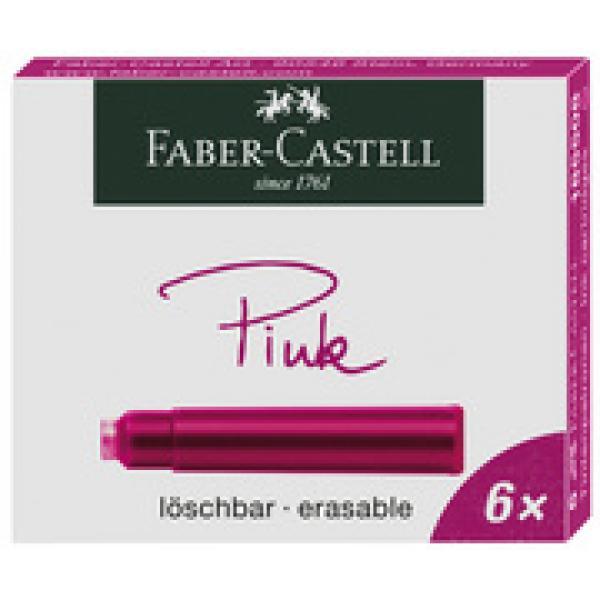 FABER CASTELL Tintenpatronen Standard schwarz 6 Patronen