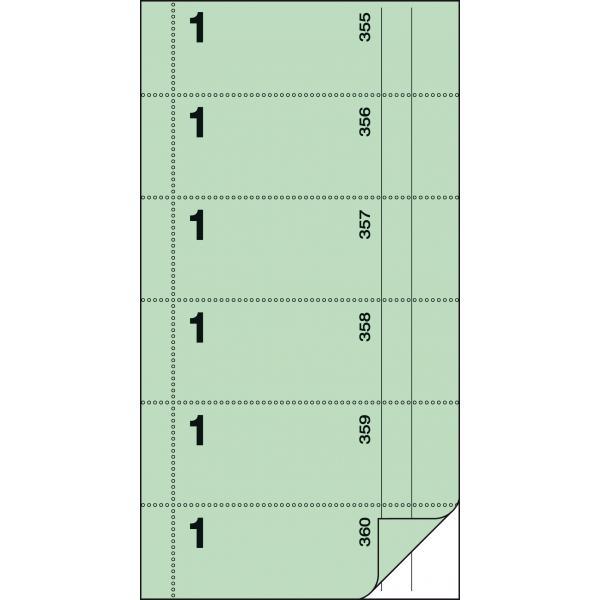 """sigel Formularbuch /""""Bonbuch/"""" 105 x 200 mm selbstdurchschreibend rosa 2 x 60 Blat"""