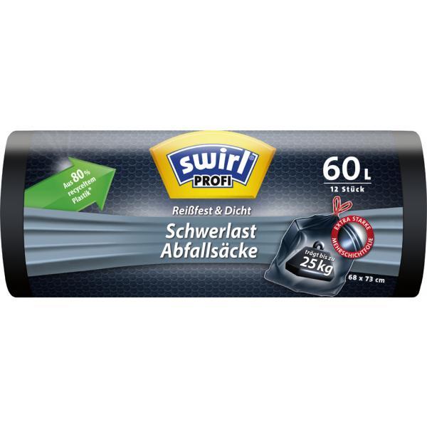 schwarz swirl Profi Schwerlast-Abfallsack 240 Liter