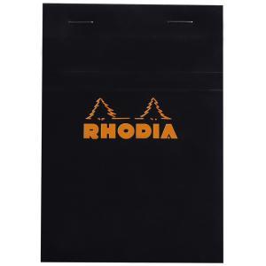 RHODIA Notizblock No. 13, DIN A6, kariert, schwarz (132009C)