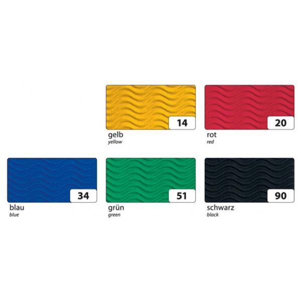 gummiert 23x25cm 12 Blatt 1 St Folia Buntpapier Hefte 12-farbig mehrfarbig