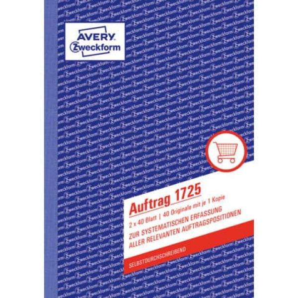 Avery Zweckform® 1776 Rapport selbstdurchschreibend DIN A5 2x40 Bl.