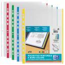 Prospekthüllen DIN A4 farbiger Rand PP