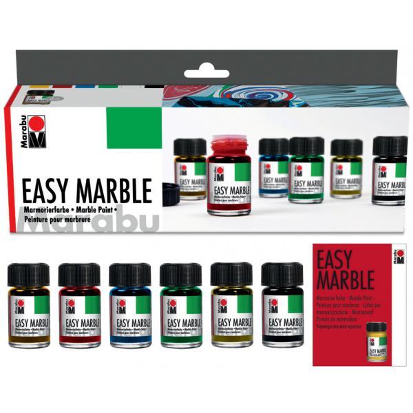 marabu marmorierfarbe easy marble starter set. Black Bedroom Furniture Sets. Home Design Ideas