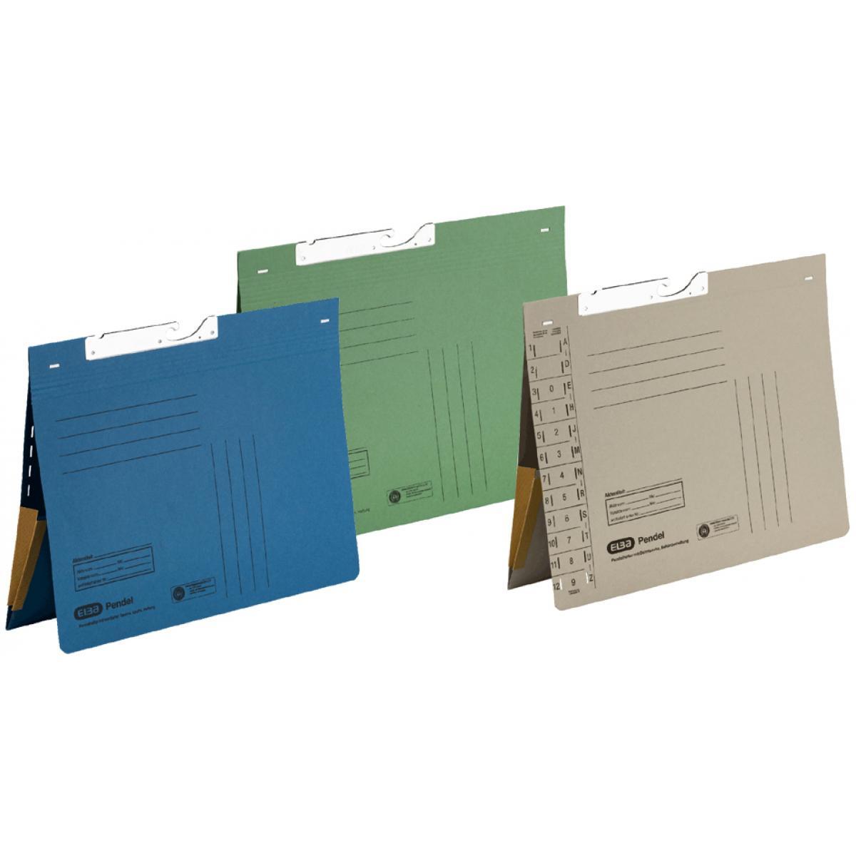 ELBA Pendelhefter mit Tasche, DIN A4, Manilakarton, rot (4002030901476) | Neues Design  | Adoptieren  | Online Store