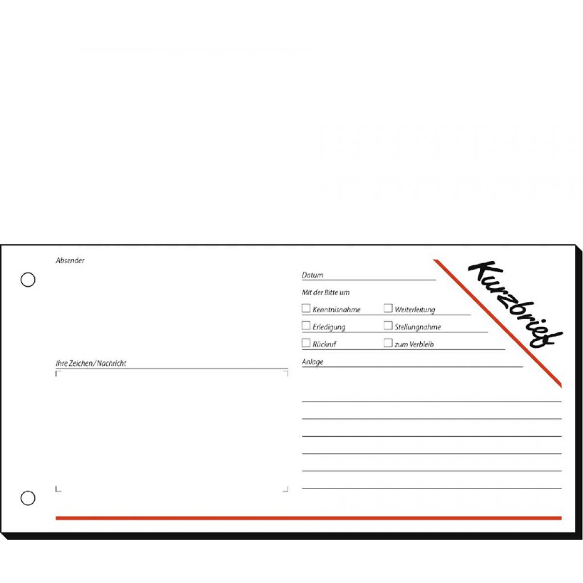 sigel-Formularbuch-Kurzmitteilung-Kurzbrief-1-3-A4-quer-4004360911026
