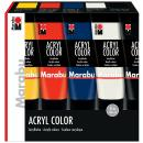 Acrylfarbe AcrylColor Starter Set 5 x 100 ml