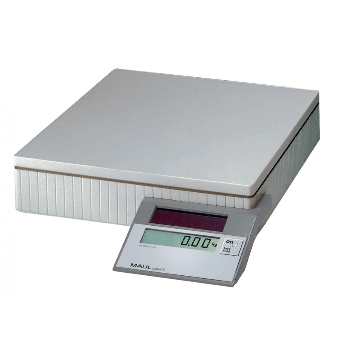 MAULparcel S Solar Paketwaage, Tragkraft: 50 kg, Farbe: grau (4002390011853)