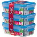 emsa Frischhaltedose CLIP & CLOSE 3er Set 0 55 Liter bl
