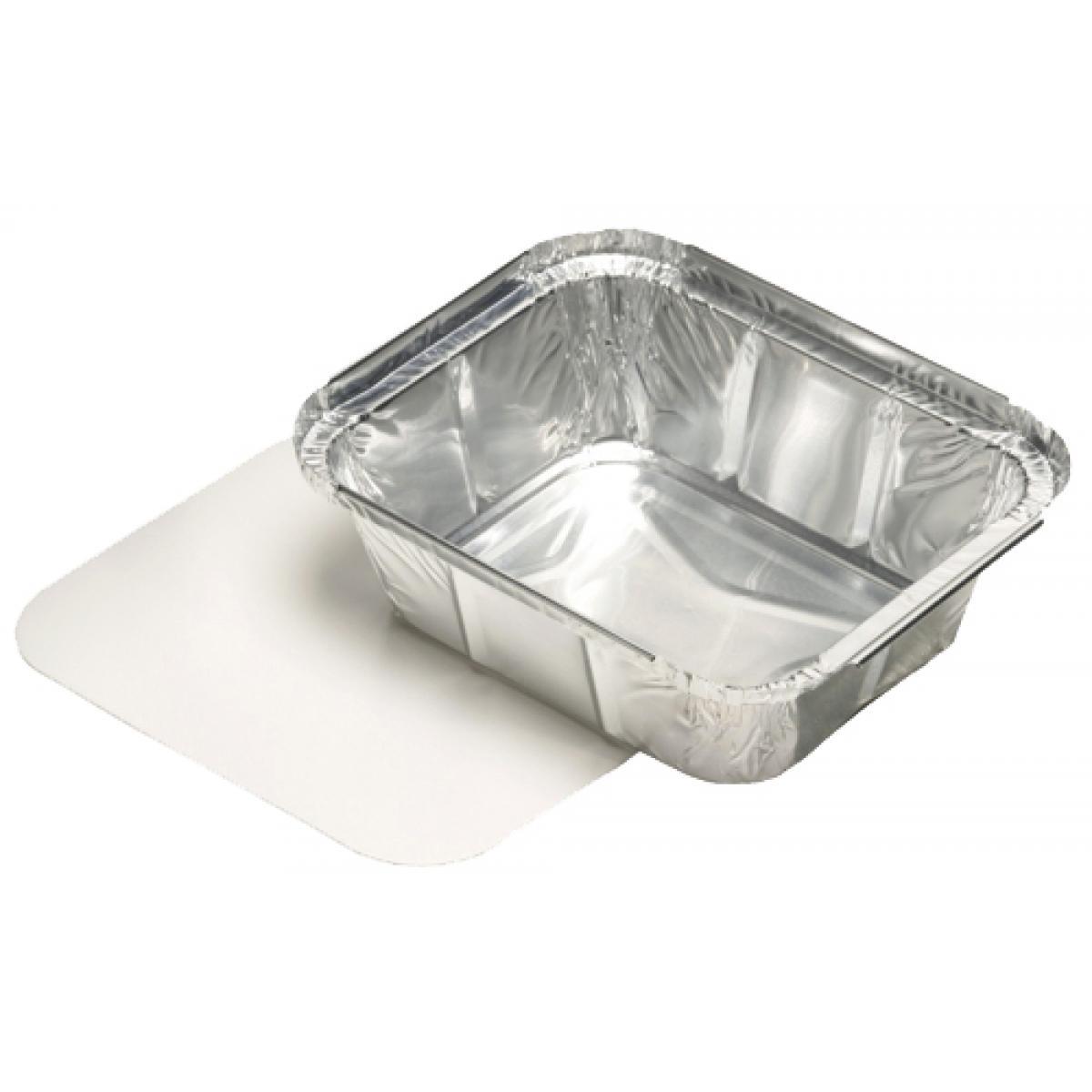 PAPSTAR Aluminium-Schale eckig, mit Deckel, 800 ml (14510) (4002911145104)
