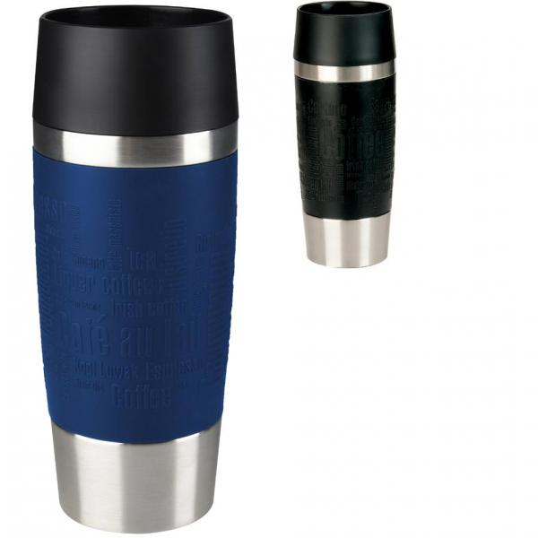 emsa isolierbecher travel mug 0 36 l manschette blau. Black Bedroom Furniture Sets. Home Design Ideas