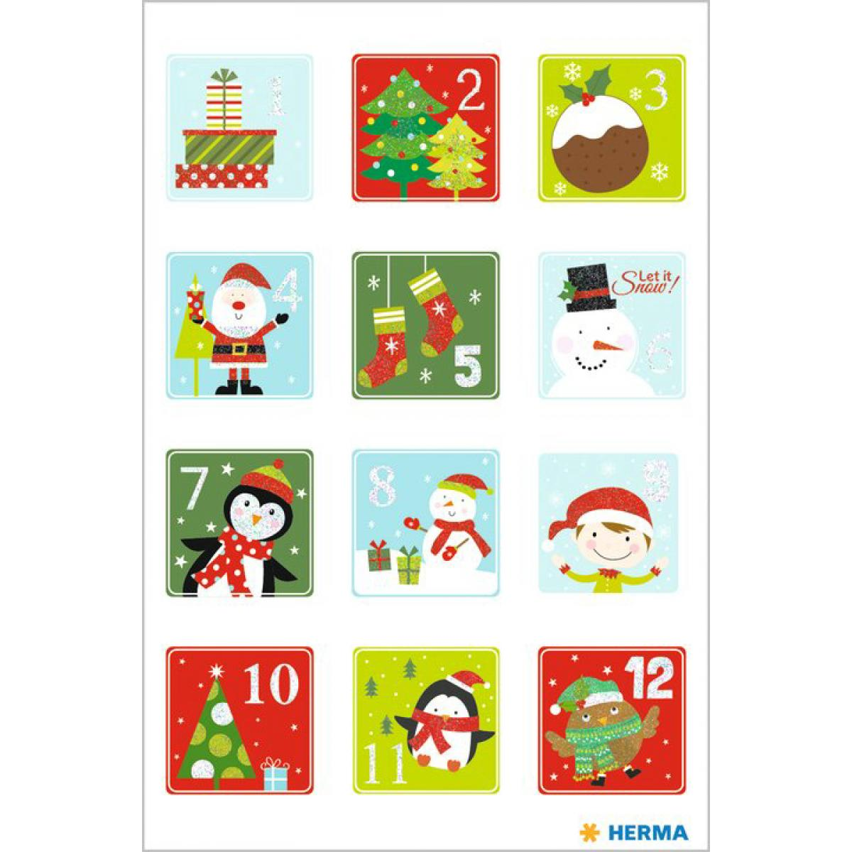 Herma DECOR Sticker Weihnachtsbären