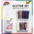 Glitter-Set inklusive Dekokleber